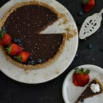 Gluten Free Dairy Free Chocolate Ganache Tart   Completely simple and delicious no-bake tart. Crust made with pecans and oats, filling made with dark chocolate and cream coconut milk. Feels indulgent without the guilt.