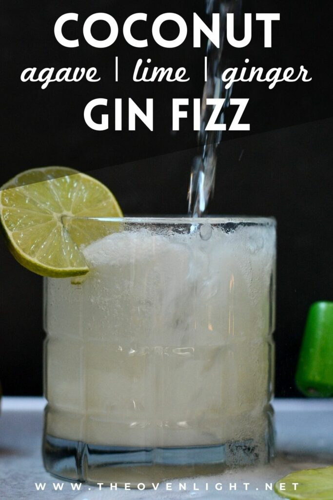 Refreshing Coconut Gin Fizz made with healthy all-natural ingredients.