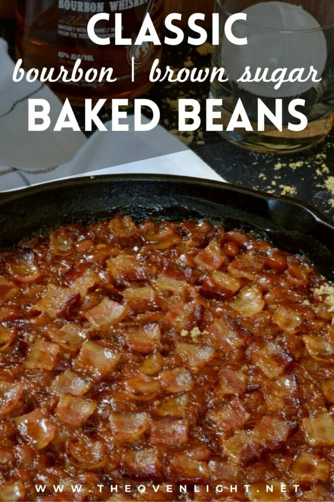 Make bourbon and brown sugar baked beans you'll crave with these simple ingredients. Plus, a splash of bourbon makes these completely irresistible. #bakedbeans #bourbon #bbq