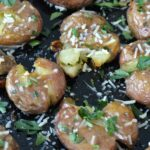 Crisp skin and tender inside, these smashed potatoes are bursting with flavor and are super simple to make. Goes great with just about ANY dinner.